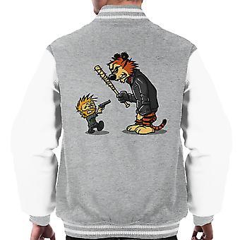 Opstaan Calvin en Hobbes Walking Dead Negan Rick mannen Varsity Jacket