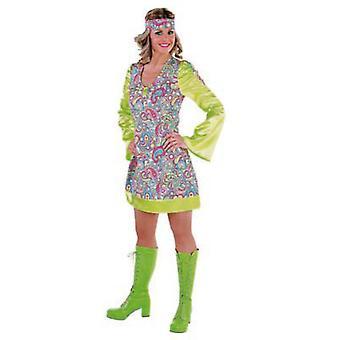 Vrouwen kostuums vrouwen 70 's disco gelukkig jurk