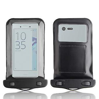 InventCase Waterproof Dustproof Bag Protective Case Cover for Sony Xperia X Compact - Black