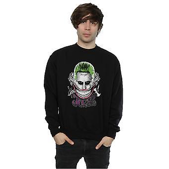 Suicide Squad mäns Joker färgade leende Sweatshirt
