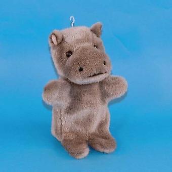 Dowman nijlpaard Hand Puppet zacht stuk speelgoed 28cm (RBP48)