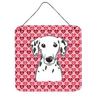 Carolines Treasures  BB5280DS66 Dalmatian Hearts Wall or Door Hanging Prints