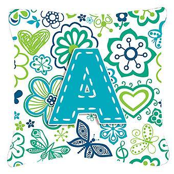 Kirjeen kukkia ja perhosia Tavi sininen piirtoalustan kangas koriste tyyny CJ2006