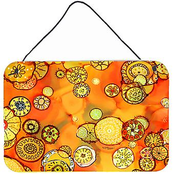 Abstract Flowers in Oranges and Yellows Wall or Door Hanging Prints
