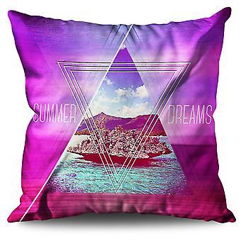 Sunny Beach Linen Cushion 30cm x 30cm | Wellcoda