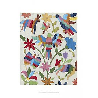 Otomi Embroidery II Poster Print by Chariklia Zarris (13 x 19)