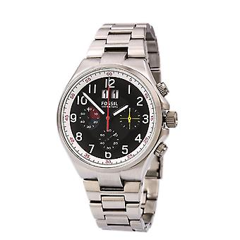 Fossil  Mens Watch Qualifier Chronograph Black Dial Stainless Steel CH2909