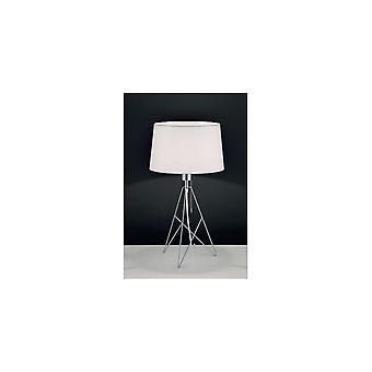 Eglo Camporale Modern Industrial Wire Frame Drum Shade Table Lamp