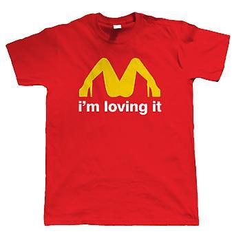 Ich & m lieben es, Herren lustige T Shirt - Sexy Parodie schmutziges Essen Geschenk ihn Papa Väter