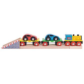 Bigjigs Rail Wooden Car Loader Vehicles Engine Locomotive Carriage Railway