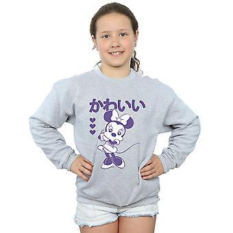 迪斯尼女孩米妮可爱运动衫