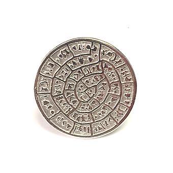 Anello di greco disco di Festo In rodio placcato argento