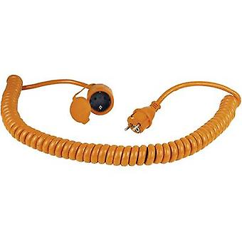 as - Schwabe 70415 Current Cable extension Orange, Black 5.00 m Spiral cable