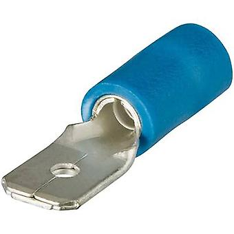 Vogt Verbindungstechnik 393405 Klinge Terminalbreite Stecker: 4,8 mm Stecker Stärke: 0,5 mm 180° teilweise isoliert blau 1 PC