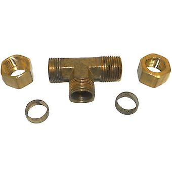 Big A Service Line 3-171908 Brass Pipe, Tee Fitting Kit 5/8
