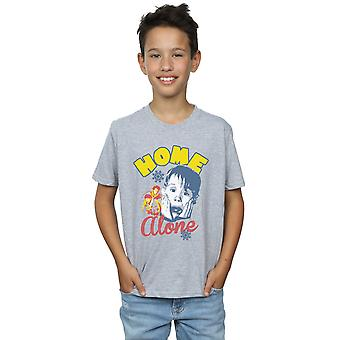 Home Alone Boys Snowflake Retro T-Shirt