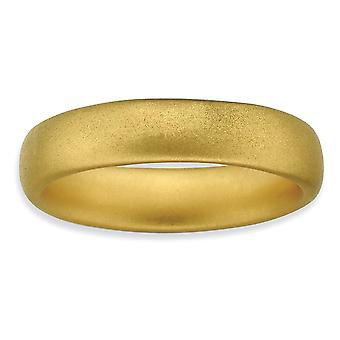 925 Sterling Silver Stackable Expressions 14k Gold Plated Satin Ring Jewelry Gifts for Women - Ring Size: 6 to 8