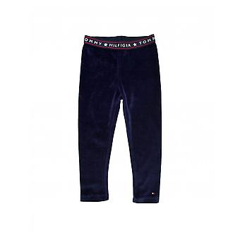 Tommy Hilfiger Velour Skinny Logo Pants
