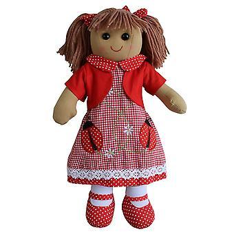 Powell Craft Ladybird Dress Rag Doll