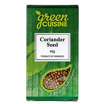 グリーン料理コリアンダーの種子