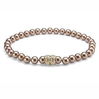 Oliver Weber Pearlchain Lucent Champagner Gold Crystal