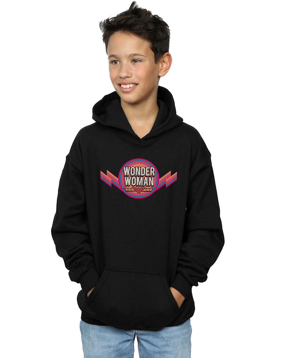 DC Comics Boys Wonder Woman Rainbow Logo Hoodie