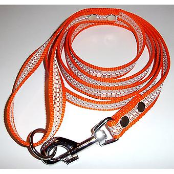 K9-Sport Super-Grip leash with handle, 20 mm x 200 cm, Reflex