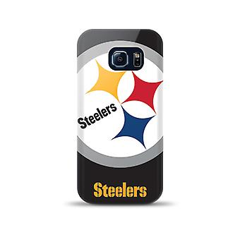 Mizco Sports NFL Oversized Snapback TPU Case for Samsung Galaxy S6 Edge (Pittsburg Steelers)