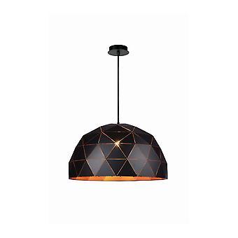 Lucide Otona moderne ronde métal pendentif noir lumière