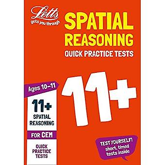 11+ Spatial Reasoning Quick Practice Tests Age 10-11 for the CEM tests - Letts 11+ Success (Paperback)