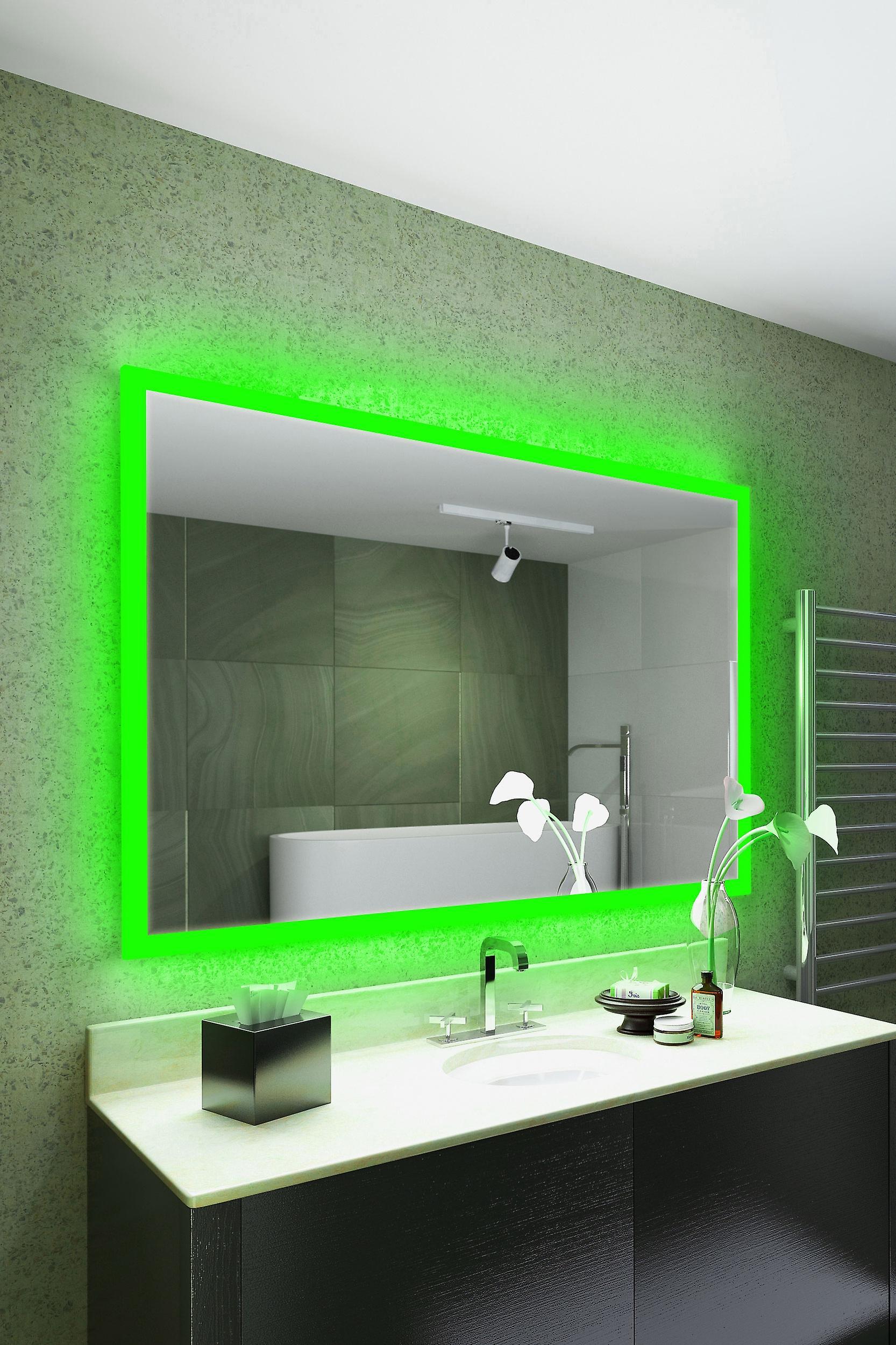 RGB Audio Shaver Mirror with Bluetooth Demist Sensor K8402hrgbaud