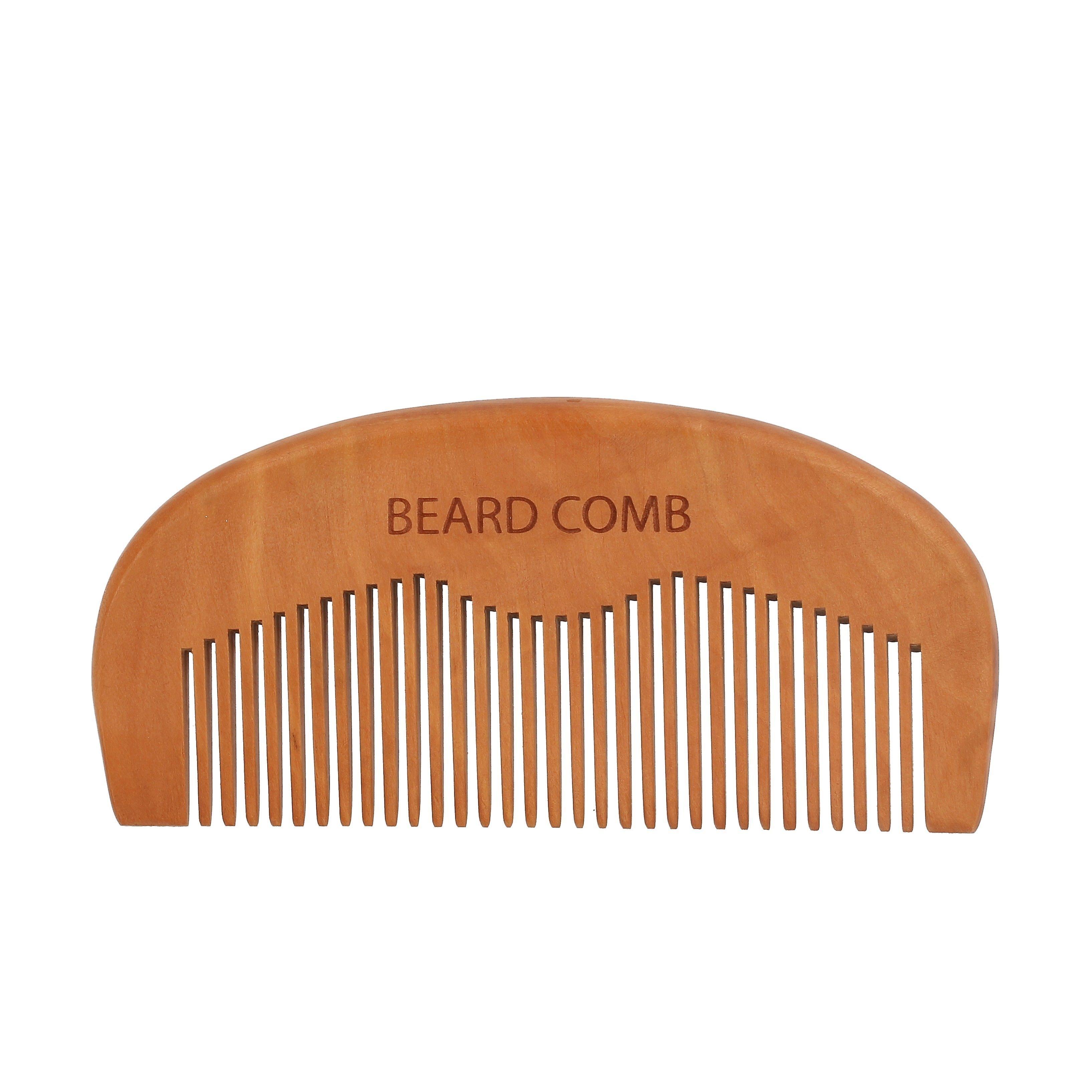 Wooden beard comb