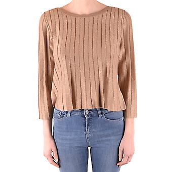 Twin-set Ezbc060182 Women's Gold Viscose Sweater