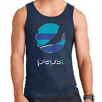 Pepsi Glitch Stacked Logo Men's Vest