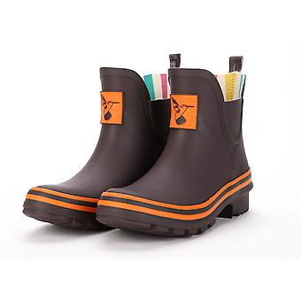 Evercreatures Ladies Ankle Rubber Wellies With Terracotta Edging - Various Sizes