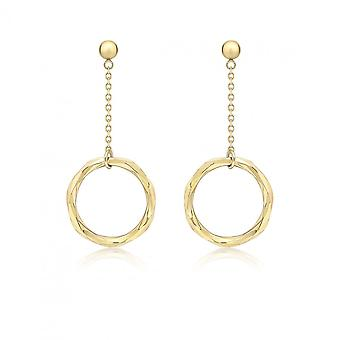 Eeuwigheid 9ct Gold Diamond Cut facet ring druppel oorbel