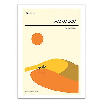 Art-Poster - Morocco Travel Poster - Jazzberry Blue