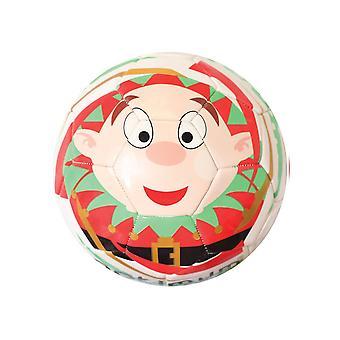 Optimal Christmas Elf mini festlig fotboll Soccer Ball vit