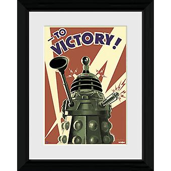 Doctor Who segern inramade Collector Print 40x30cm