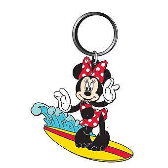 PVC Key Chain - Surfing - Minnie Soft Touch New Licensed 85163