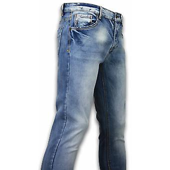 Basic Jeans-Stone Washed Skinny Fit-Blue