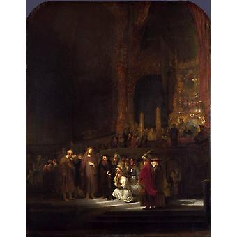 The Woman Taken in Adultery, REMBRANDT, 50x40cm