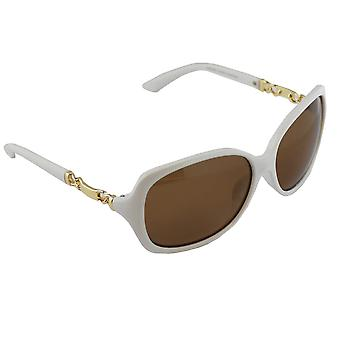 Solbriller UV 400 oval polariserende glas hvid S356_1 fri BrillenkokerS356_1