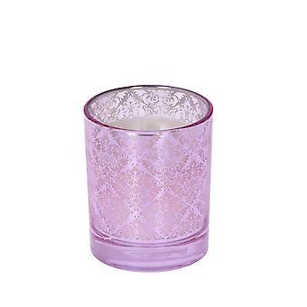 Duftende stearinlys Alma Fresh Lin rosa 11 cm