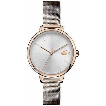 Lacoste | Kvinder ' s Cannes | Champagne mesh armbånd | Silver dial | 2001103 Watch