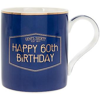 Petite et Pavey Fine China Gents Society Happy 60th Mug