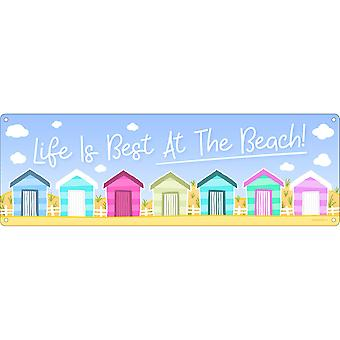 Grindstore Life is Best At The Beach Slim Tin Sign