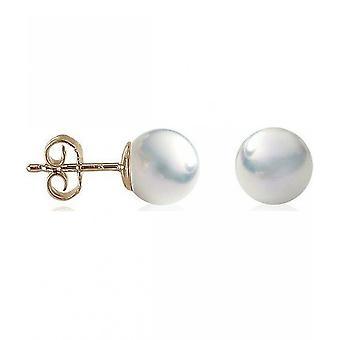 Luna-perler perle StudS klassiske akoya perler 9-9,5 mm 585 gul guld 1021925