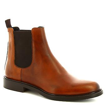 Leonardo schoenen mannen ' s handgemaakte mode elegante enkellaars in Tan kalf leder