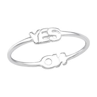 """yes"" And ""no"" - 925 Sterling Silver Plain Rings - W24614x"